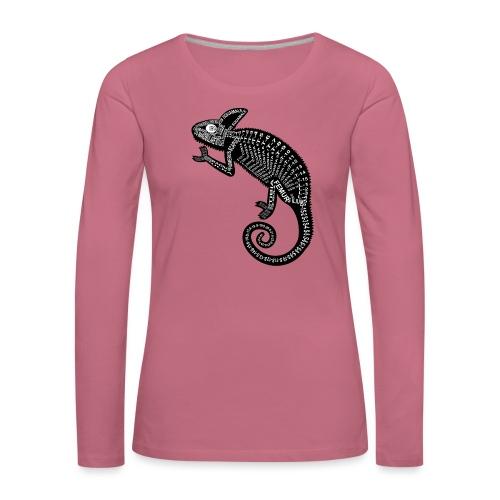 Chameleon Skeleton - Vrouwen Premium shirt met lange mouwen