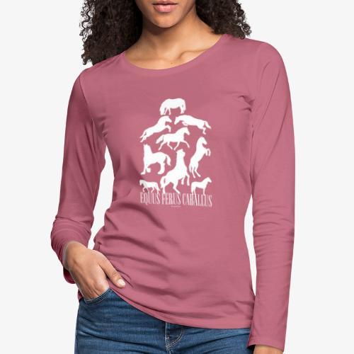 Equus Ferus Caballus - Naisten premium pitkähihainen t-paita