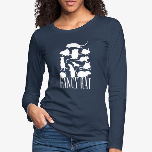 Fancy Rat - Naisten premium pitkähihainen t-paita