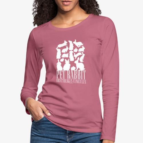 Pet Rabbit - Naisten premium pitkähihainen t-paita
