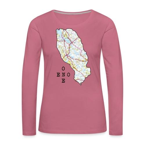 Eno/One maailmankartalle - Naisten premium pitkähihainen t-paita