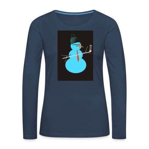 Hockey snowman - Naisten premium pitkähihainen t-paita