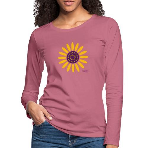 sunflower - Naisten premium pitkähihainen t-paita