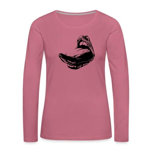 langue femme - T-shirt manches longues Premium Femme