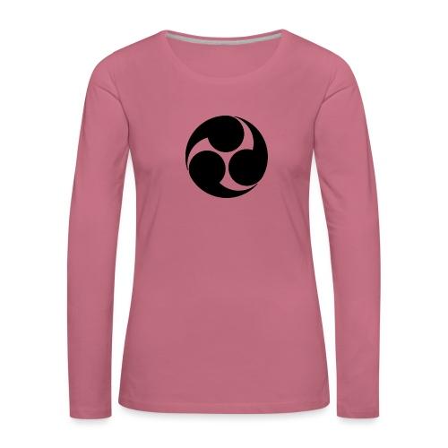 Kobayakawa Mon Japanese clan black - Women's Premium Longsleeve Shirt