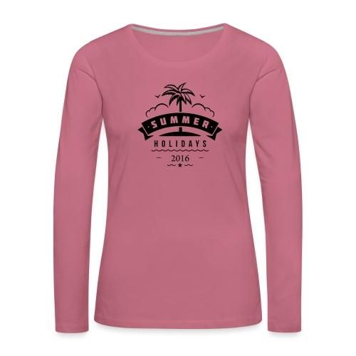 summer holidays palm - Naisten premium pitkähihainen t-paita