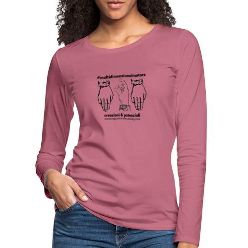 logo #MultiDimensionalMotors con segni mano - Maglietta Premium a manica lunga da donna
