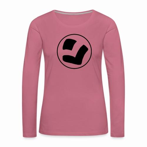 LaidPark Black Logo - Naisten premium pitkähihainen t-paita