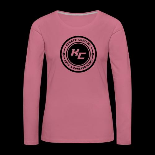 kc_tunnus_2vari - Naisten premium pitkähihainen t-paita