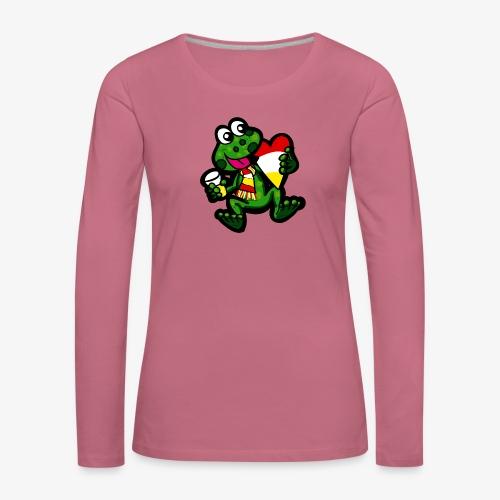 Oeteldonk Kikker - Vrouwen Premium shirt met lange mouwen