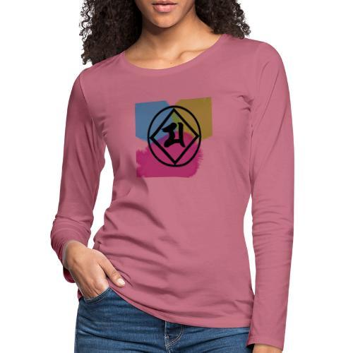 Logo Japones color - Camiseta de manga larga premium mujer