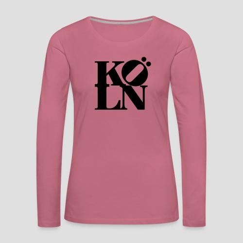 KOELN - Frauen Premium Langarmshirt