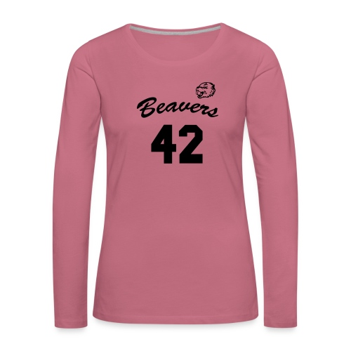 Beavers front - Vrouwen Premium shirt met lange mouwen