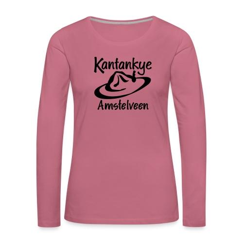 logo naam hoed amstelveen - Vrouwen Premium shirt met lange mouwen