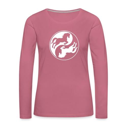 Vorschau: Horse Ying Yang - Frauen Premium Langarmshirt