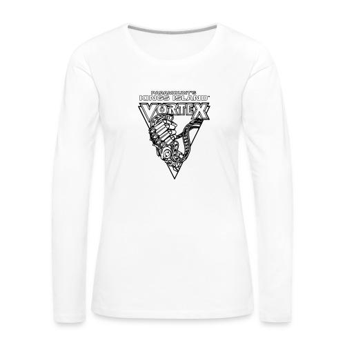 Vortex 1987 2019 Kings Island - Naisten premium pitkähihainen t-paita
