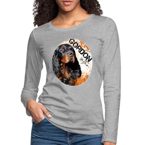 Gordon Setter Splash - Naisten premium pitkähihainen t-paita