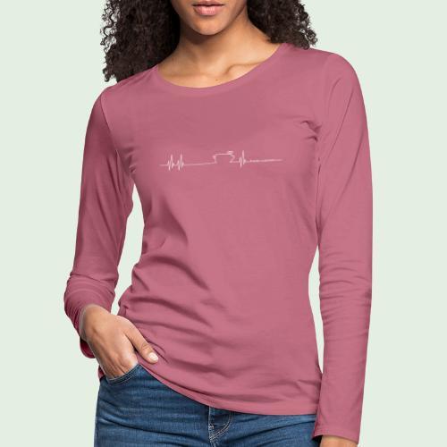 Herzschlag - Frauen Premium Langarmshirt