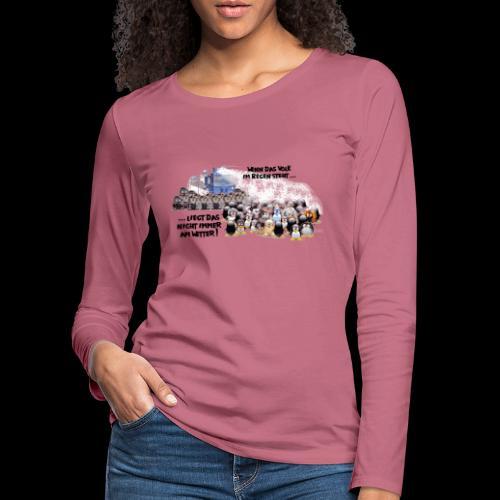 tux demo - Frauen Premium Langarmshirt