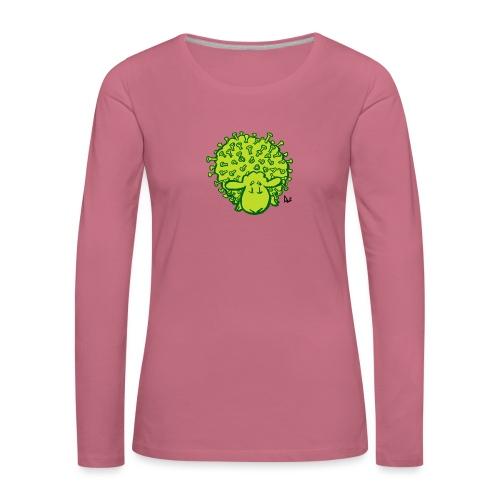 Virus får - Dame premium T-shirt med lange ærmer