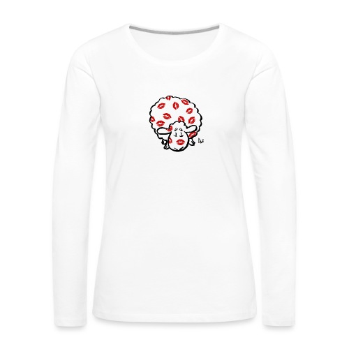 Kuss Mutterschaf - Frauen Premium Langarmshirt