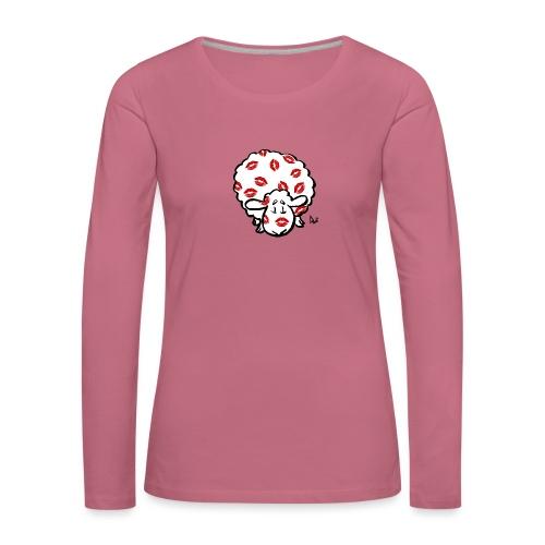 Kiss Ewe - Dame premium T-shirt med lange ærmer