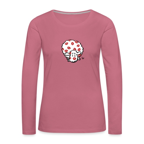 Kiss Ewe - Premium langermet T-skjorte for kvinner