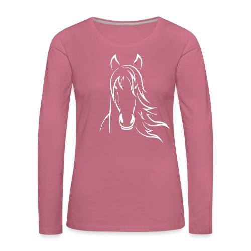 Vorschau: Horse - Frauen Premium Langarmshirt