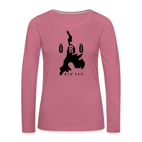 ÖRÖ ISLAND, FINLAND T-SHIRTS, HOODIES + 150 GIFTS - Naisten premium pitkähihainen t-paita