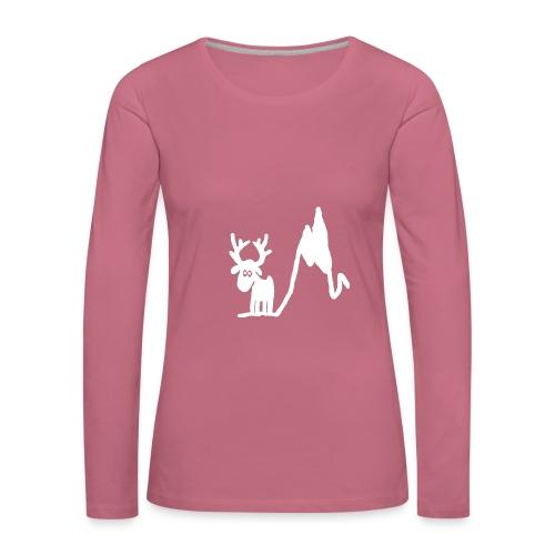 Renne blanc - Une blonde en Norvège - T-shirt manches longues Premium Femme