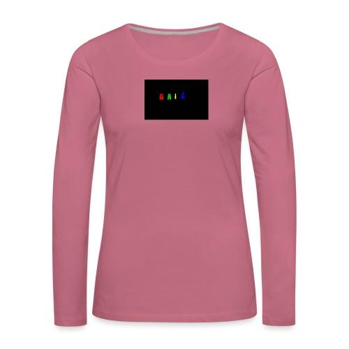 Gaiz - Maglietta Premium a manica lunga da donna