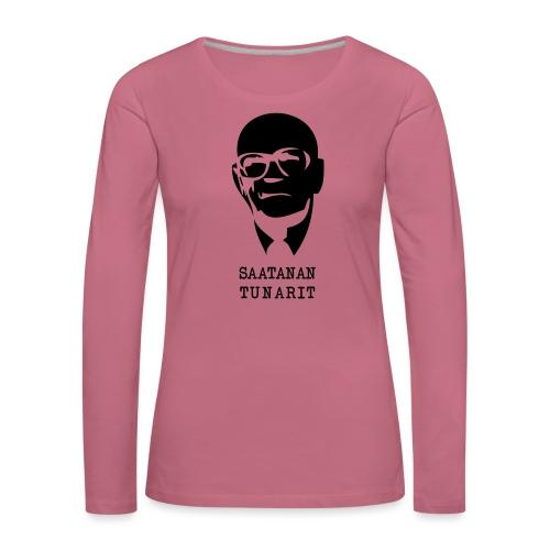 Kekkonen saatanan tunarit - Naisten premium pitkähihainen t-paita