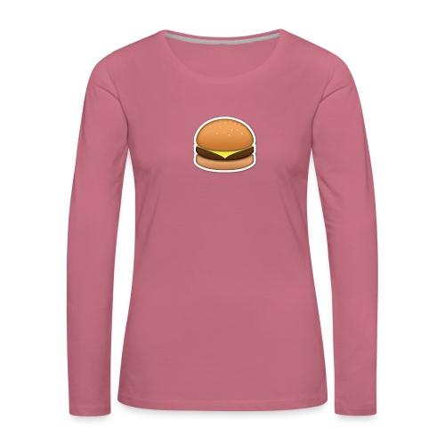 hamburger_emoji - Vrouwen Premium shirt met lange mouwen