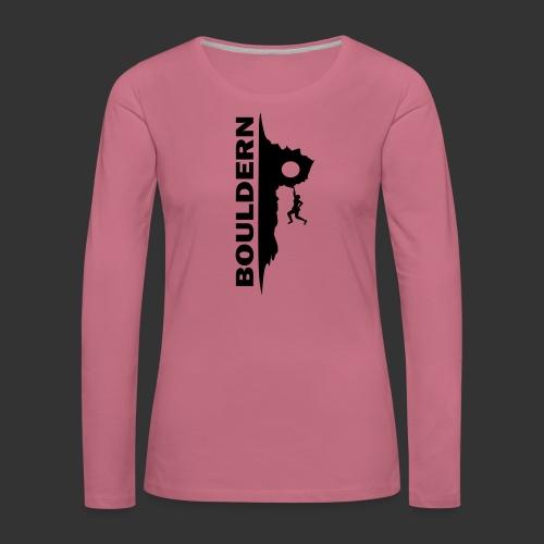 Bouldern - Frauen Premium Langarmshirt