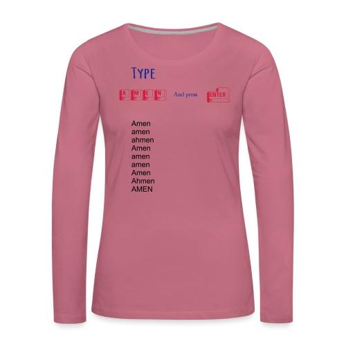 amen2 - Naisten premium pitkähihainen t-paita