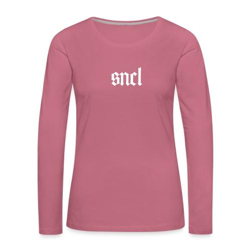 SNCL Retro Weiß - Frauen Premium Langarmshirt