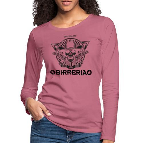 Sheriff Skull with Revolver - Frauen Premium Langarmshirt
