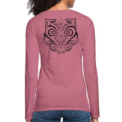 The Parvati Cat by Stringhedelic - Black - Women's Premium Longsleeve Shirt