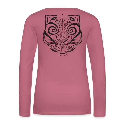 The Parvati Cat by Stringhedelic - Black - Women's Premium Longsleeve Shirt