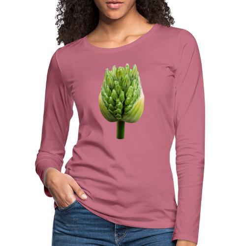 TIAN GREEN Garten - Lauchblütenknospe 2020 01 - Frauen Premium Langarmshirt