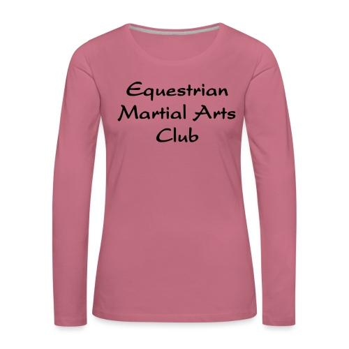 EMAC_logo_teksti - Naisten premium pitkähihainen t-paita