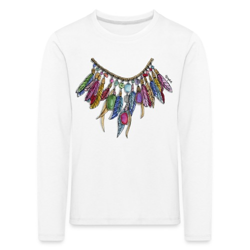 INDIANFJÄDRAR - Långärmad premium-T-shirt barn
