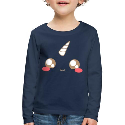 Kawaii_T-unicorn_EnChanta - Kids' Premium Longsleeve Shirt