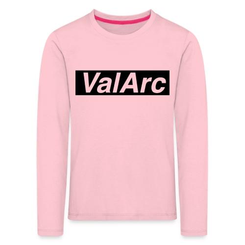 ValArc Text Merch Black Background - T-shirt manches longues Premium Enfant
