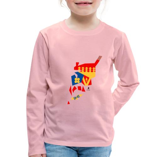 Åboland × Eva: Kimitoöns kommunvapen - Lasten premium pitkähihainen t-paita