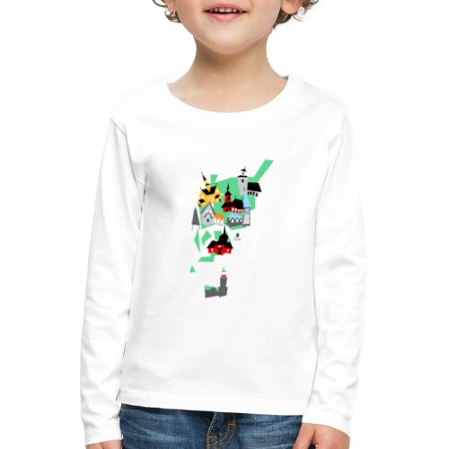 Åboland × Eva: Kimitoöns kyrkor - Lasten premium pitkähihainen t-paita