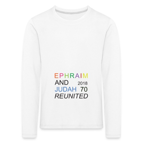 EPHRAIM AND JUDAH Reunited 2018 - 70 - Kinderen Premium shirt met lange mouwen