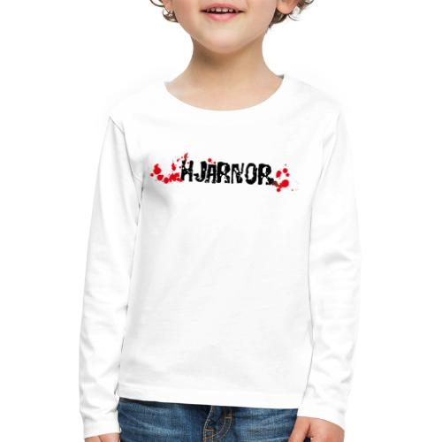 Hjärnor logo svart - Långärmad premium-T-shirt barn