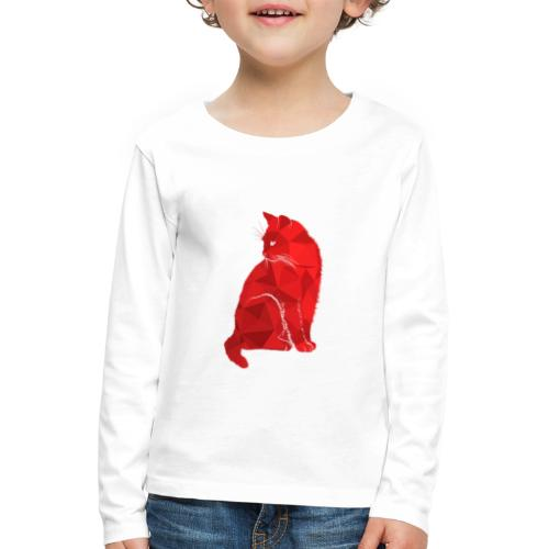 Cat - Kinder Premium Langarmshirt