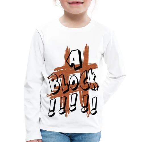 H-Tag A Block - T-shirt manches longues Premium Enfant